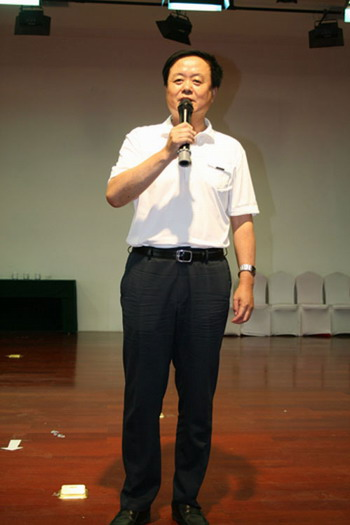 榆林市慈善协会会长刘洪讲话