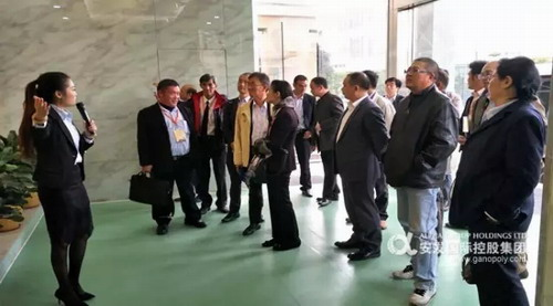 泰国来访团参观安发 点赞安发为健康做积极贡献