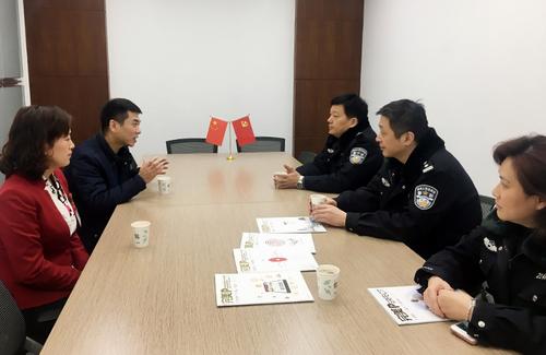 南京秦淮区派出所领导莅临完美 促进警企和谐